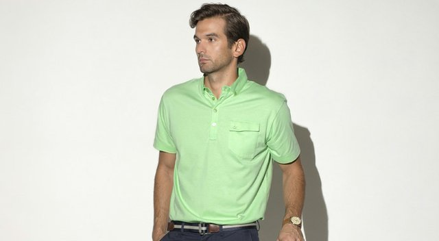 The Brunner, one of three collections Devereux is starting with, is a lightweight jersey with a four-button placket and button down collar.