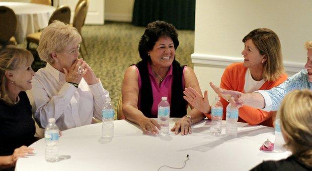 Jan Stephenson, Pat Bradley, Nancy Lopez, Beth Daniel and JoAnne Carner (far right) during Golfweek's Legends Roundtable at Innisbrook.