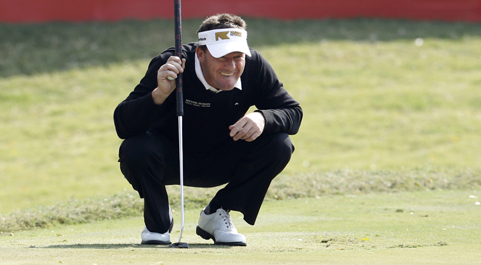 Four-time European Tour champion Alex Cejka of Germany upstaged a star-filled field with an 8-under 64 Thursday to take a one-shot lead after the first round of the Thailand Golf Championship.