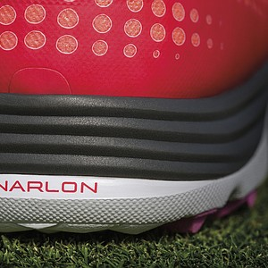 The heel of the Nike Lunar Empress golf shoe.