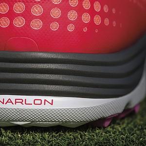 The heel of the Nike Lunar Empress golf shoe.
