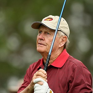 Jack Nicklaus on Saturday at the PNC Father/Son Challenge at The Ritz Carlton Golf Club of Orlando.
