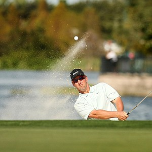 David Duval hits out of the bunker on Saturday at the PNC Father/Son Challenge at The Ritz Carlton Golf Club of Orlando.