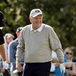 Jack Nicklaus on Sunday at the PNC Father/Son Challenge at The Ritz Carlton Golf Club of Orlando.