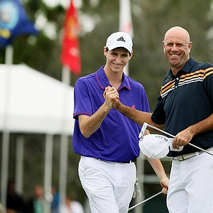 Stewart Cink and his son, Connor, won with a two-day total of 22-under on Sunday at the PNC Father/Son Challenge at The Ritz Carlton Golf Club of Orlando.