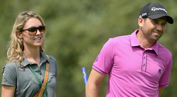 Sergio Garcia with his girlfriend Katharina Boehm