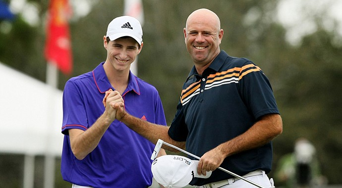 Stewart Cink and his son, Connor, won the 2013 PNC Father/Son Challenge at The Ritz-Carlton Golf Club in Orlando, Fla.