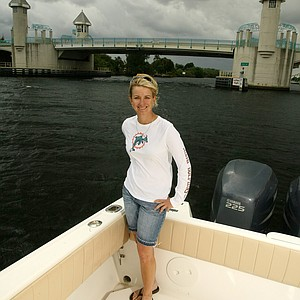 Karrie Webb - on her boat in Boynton Beach, Fla.