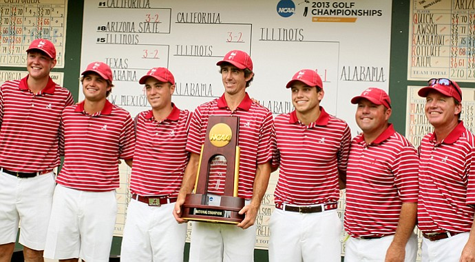 One of the most impactful teams of the 2013 season? The Alabama Crimson Tide. The Tide won its first golf national championship in May and has continued to win this fall.