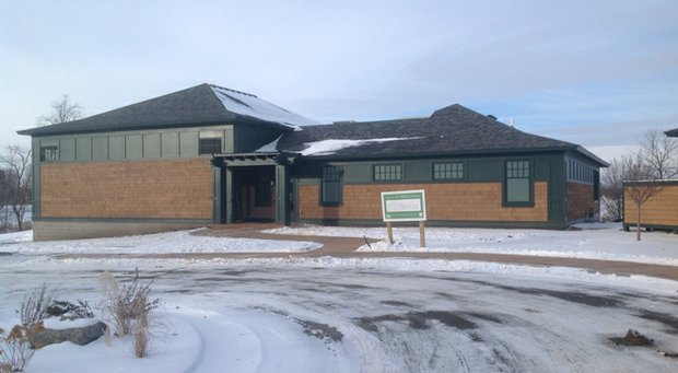 It may be cold outside, but golfers at Shattuck-St. Mary's can go inside to use this new indoor facility on the prep school's campus.