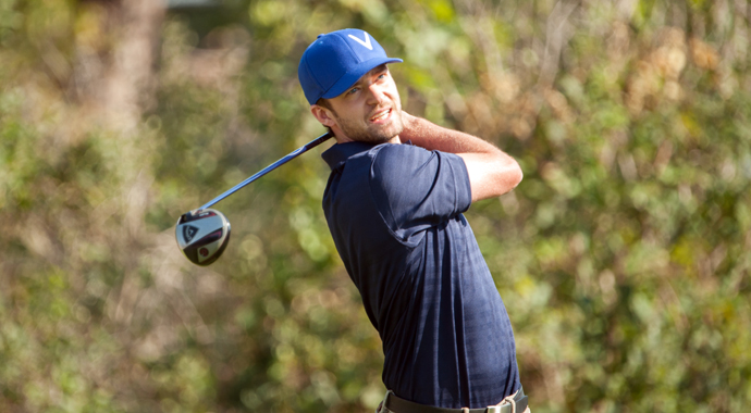Justin Timberlake hit the links Wednesday at Lake Nona Country Club, a day before his concert in Orlando, Fla.