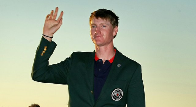 Jordan Niebrugge after helping the U.S. win the 2013 Walker Cup.
