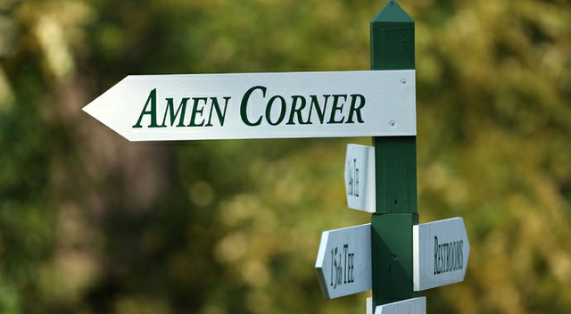 An Amen Corner sign from the Masters.