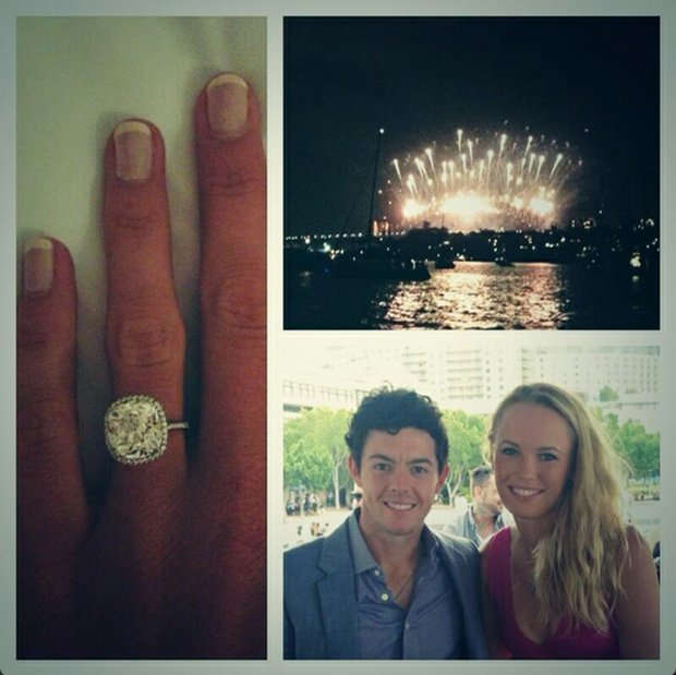 Rory McIlroy posted this collage of pictures on Twitter on Tuesday night to announce his engagement to Caroline Wozniacki.