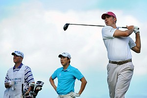 Matt Kuchar hits a drive during the second round of the Hyundai Tournament of Champions at Plantation Course.