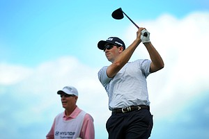 Michael Thompson hits a drive during the second round of the Hyundai Tournament of Champions at Plantation Course.