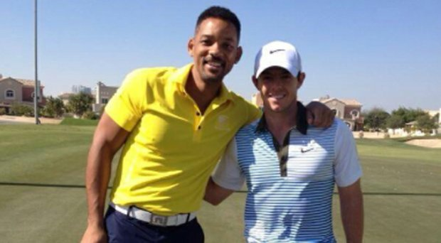 Rory McIlroy met Will Smith, aka the Fresh Prince of Bel-Air, on Jan. 5.