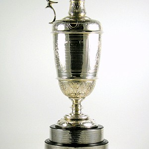 The Claret Jug being offered by the Green Jacket Auction.