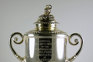 The PGA Championship trophy being offered by the Green Jacket Auction.