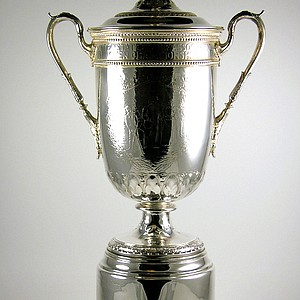 The U.S. Open trophy being offered by the Green Jacket Auction.