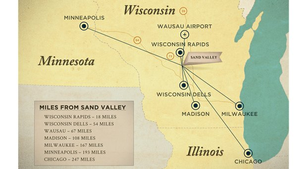 Chicago, Milwaukee, Madison and Minneapolis-St. Paul are within a four-hour radius of Sand Valley.