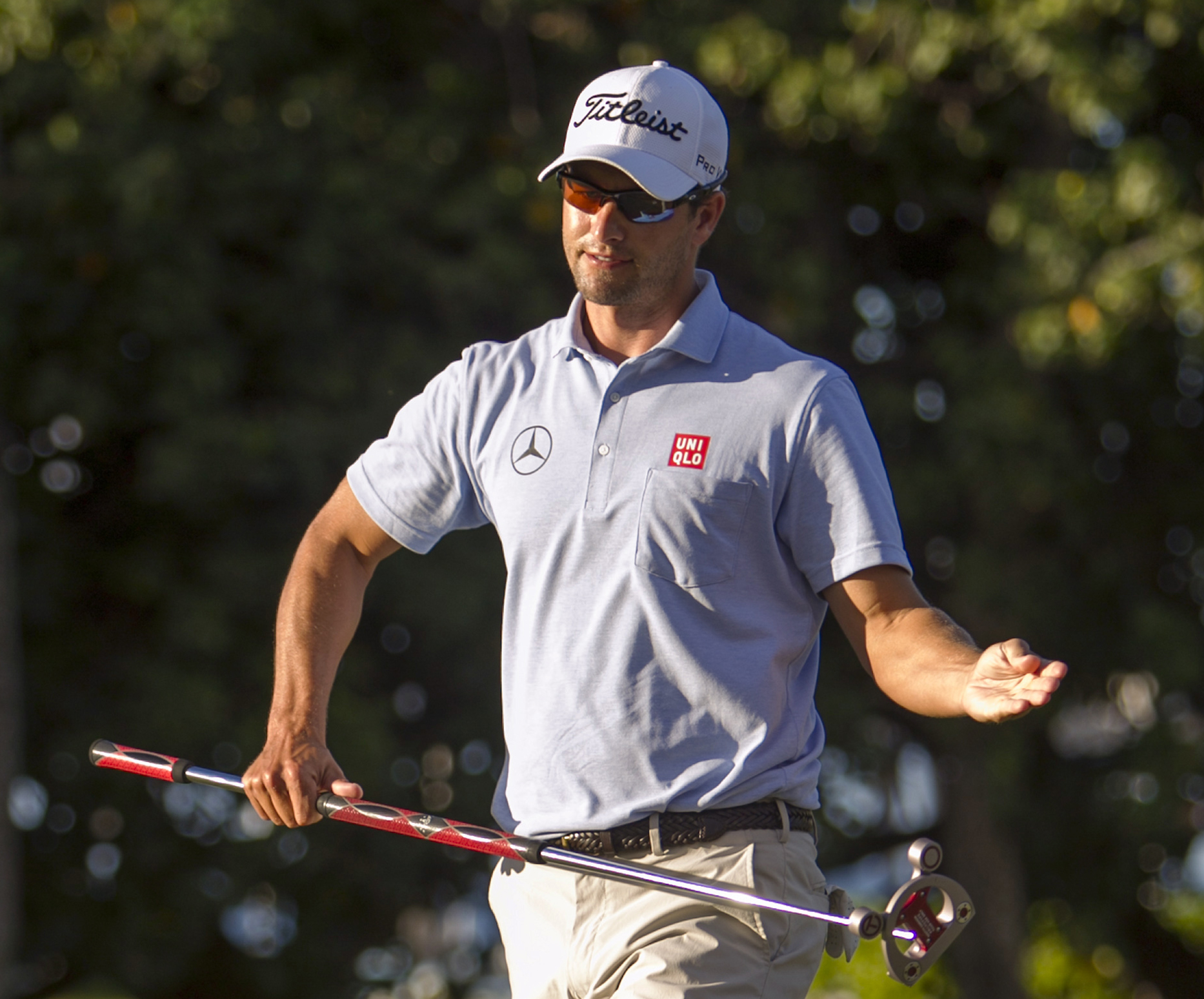 Adam Scott during the first round of the 2014 Sony Open in Honolulu.