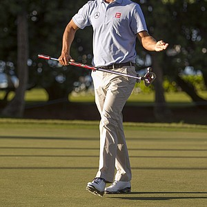 Adam Scott during the first round of the PGA Tour's 2014 Sony Open in Honolulu.