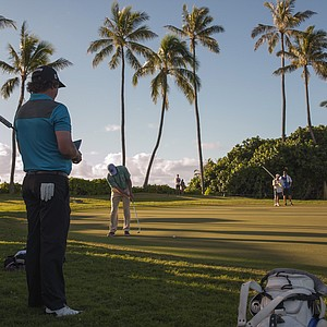Jason Dufner during the first round of the PGA Tour's 2014 Sony Open in Honolulu.