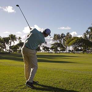 Matt Kuchar during the first round of the PGA Tour's 2014 Sony Open in Honolulu.