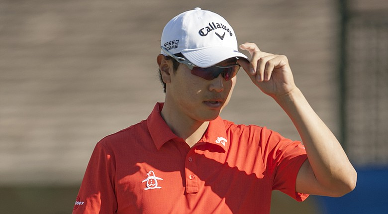Sang-Moon Bae during the first round of the 2014 Sony Open in Honolulu.