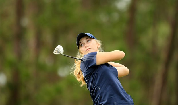Taylor Paige Lyle during the 59th Harder Hall Women's Invitational at Harder Hall Country Club.
