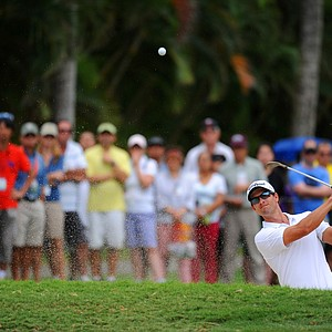 Adam Scott during the third round of the Sony Open.