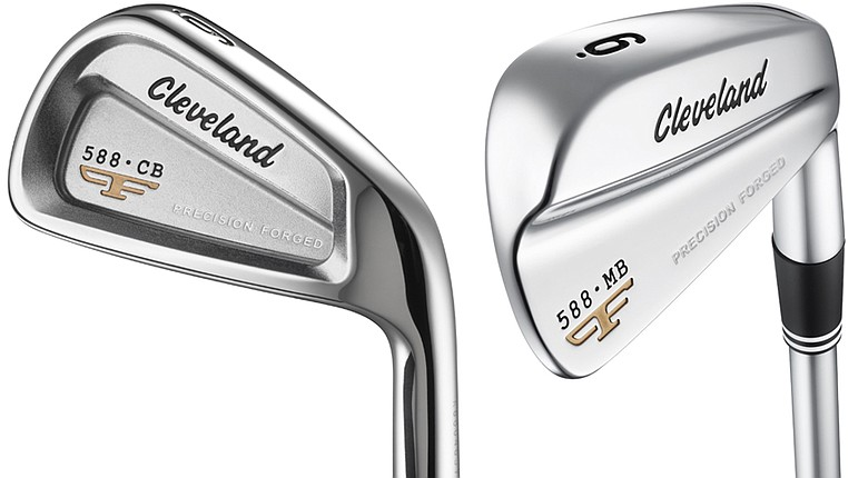 Cleveland Forged CB and 588 Forged MB irons.