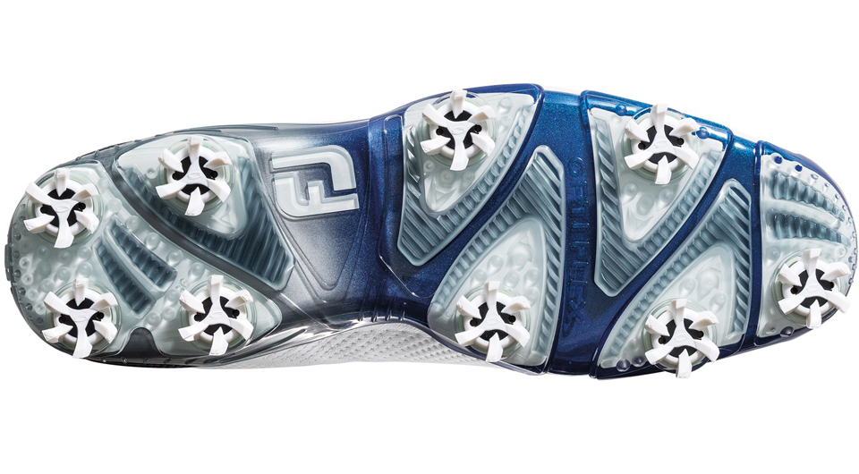 The bottom of the D.N.A. golf shoe from FootJoy.