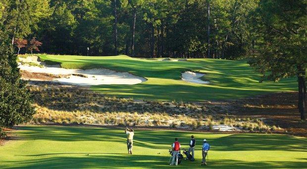 The ninth hole at Pinehurst Resort (No. 2).