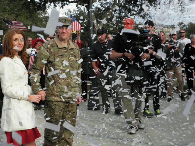 Winter Park native Lt. Chuck Nadd received a surprise parade after he returned home from Afghanistan last week.