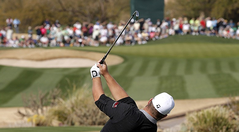 Ryan Moore during the PGA Tour's 2013 Waste Management Phoenix Open, where for the first time he used AeroTech SteelFiber shafts in a new set of TaylorMade RocketBladez irons.
