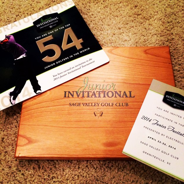 Andy Zhang, an invitee to the 2014 tournament, shared his invitation with a picture on Instagram.