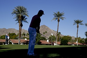 Rickie Fowler during the first round of the PGA Tour's 2014 Humana Challenge in La Quinta, Calif.