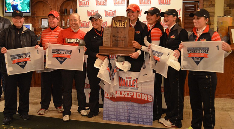 Illinois State after winning the 2013 Missouri Valley Conference Championship.