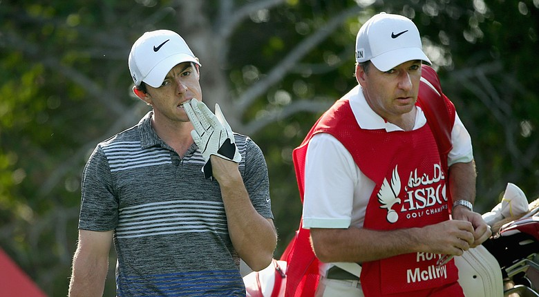 Rory McIlroy will enter the final round of the Abu Dhabi HSBC Golf Championship three shots off of Craig Lee's lead after incurring a two-shot penalty on the second hole Saturday.