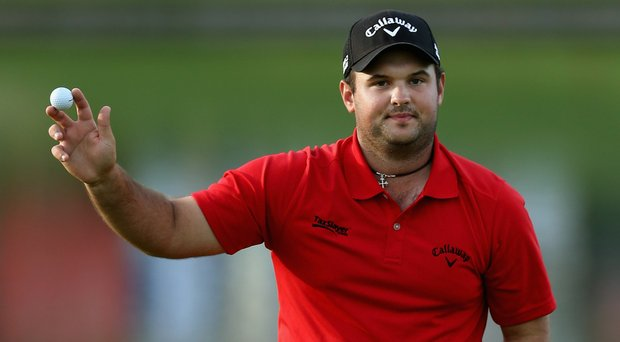 Patrick Reed acknowledges the gallery on the 18th green after winning the Humana Challenge behind a 1-under 71 on Sunday.