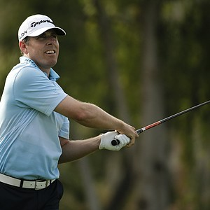 Justin Leonard during the final round of the PGA Tour's 2014 Humana Challenge in La Quinta, Calif.