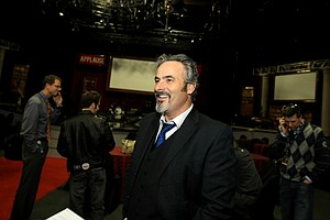 David Feherty at Universal's Sound Stage 20 running through a dress rehearsal for his live shows.