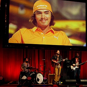 A video of David Feherty's 2013 guests plays above as singer/Songwriter Josh Kelley, rehearses at David Feherty Live at Universal's Sound Stage 20, during a dress rehearsal for the live shows.