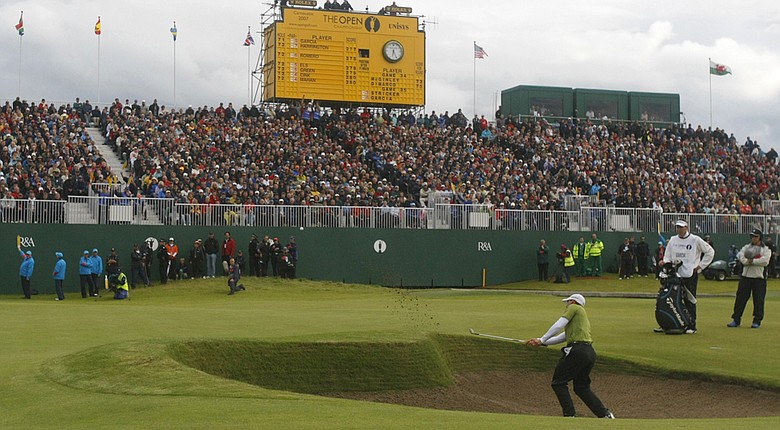 A scene from the 2007 Open Championship at Carnoustie Golf Links, which will host the 2016 Senior Open Championship.