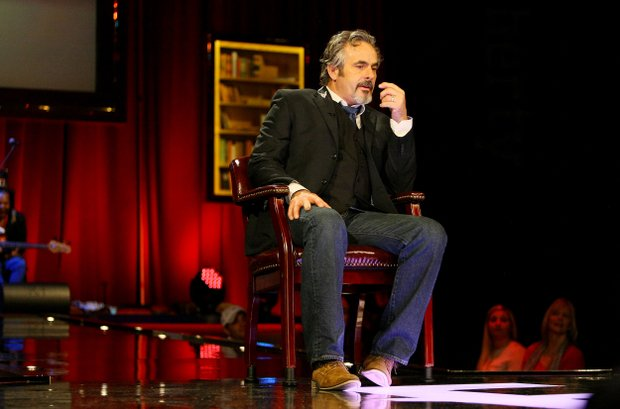 David Feherty at Universal's Sound Stage 20 running through a dress rehearsal for his upcoming live shows.