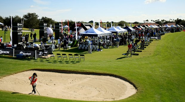 Sun, green grass and easy breezes were in abundant supply early at the PGA Merchandise Show's 2014 Demo Day at the expansive practice range of Orange County National Golf Center and Lodge near Orlando, Fla.