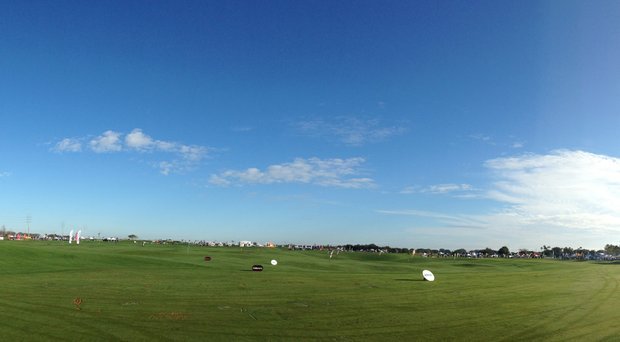 The range prior to the start of Demo Day at Orange County National in Orlando, Fla. Demo Day kicks off PGA Show week.