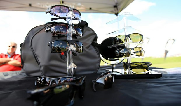 Transitions lenses with Callaway, Oakley and Nike frames on display at the PGA Show Demo Day at Orange County National.
